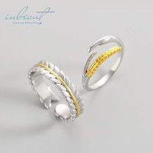 inbeaut Close to Nature Series 925 Silver Gold Wheat Ears Couple Rings First Meet Field Esthetic Wedding Ring for Women