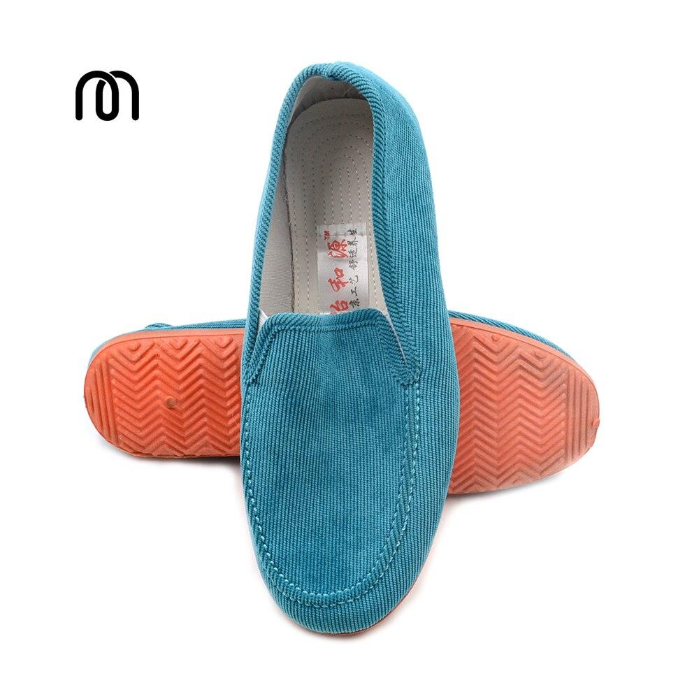 Livraison gratuite automne de mode en velours côtelé hommes chaussures appartements chaussures paresseux pédale coton fait chaussures casual chaussures Mocassins Appartements en caoutchouc