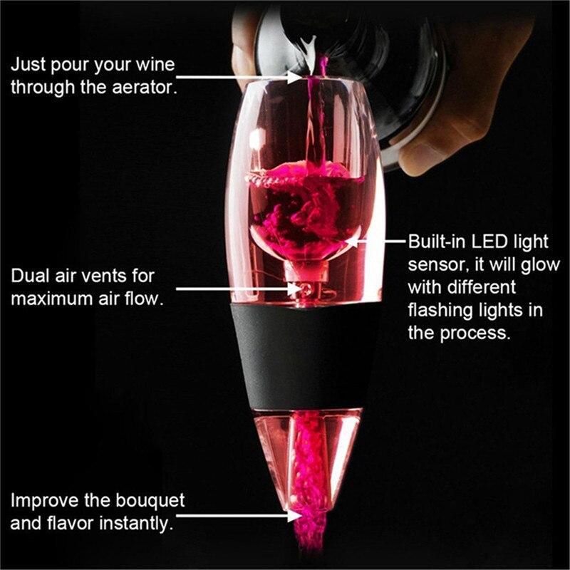 LED Wine Aerator Magic Decanter Deluxe Aerator Gift Set Essential Wine Aerator & Tower