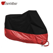 HEROBIKER Motorcycle Cover Outdoor Indoor Motorcycle Cruisers Street Moto Cover UV Protective Motorcycle Rain Cover 3 color