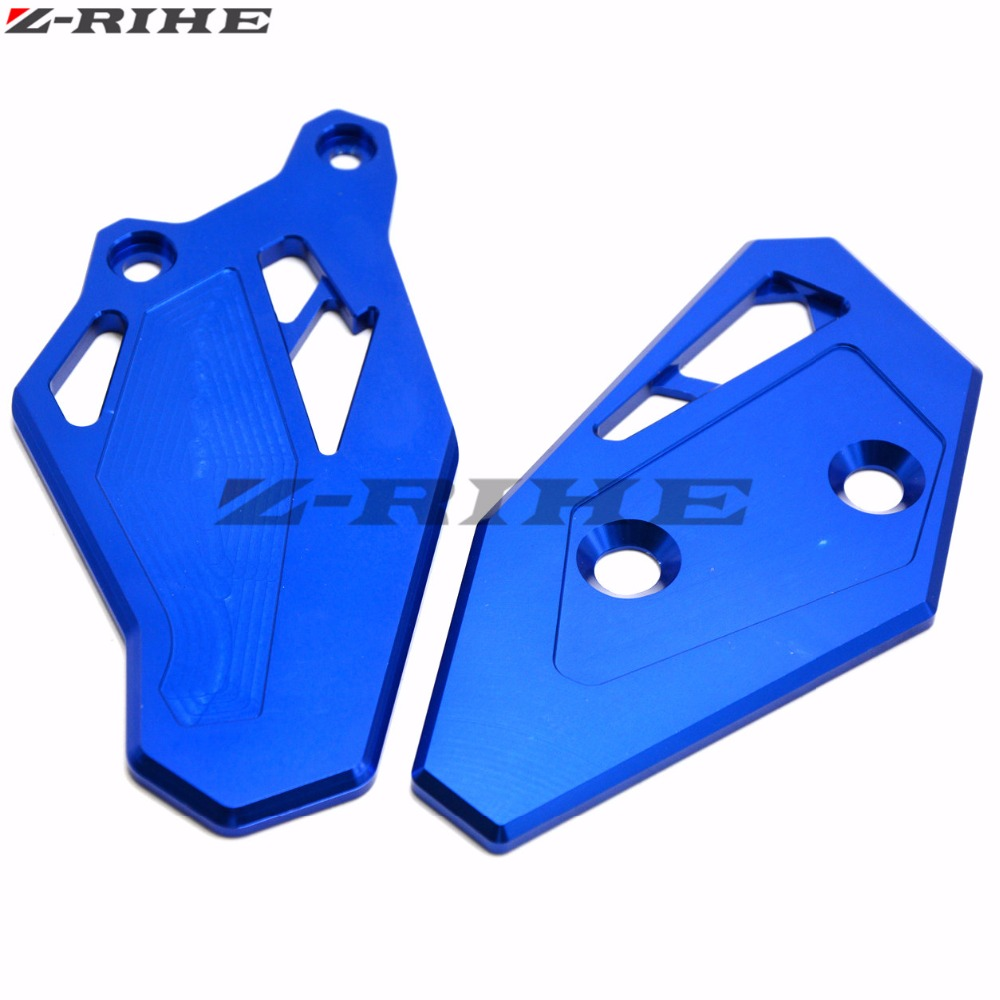 Motorcycle CNC Aluminum Footrest Rear set Foot Peg Plate Guard Black For Yamaha YZF R3 YZF R25 YZF R3 YZF R25 2014 2015 2016 in Stands from Automobiles Motorcycles