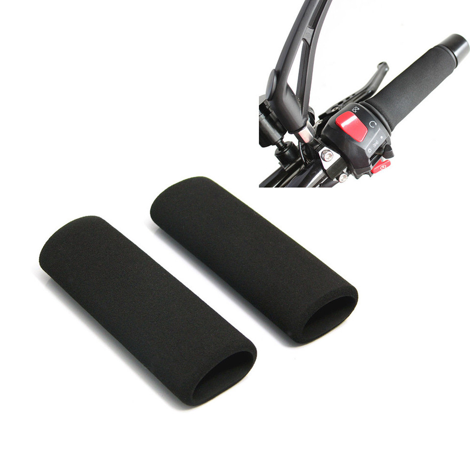1Pair Bike Racing Bicycle Motorcycle Handle Hand Bar Grip Foam Sponge Cover Case