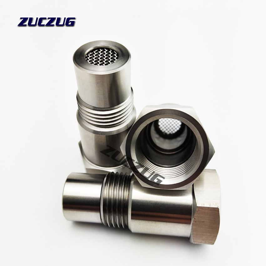Image 4 - Universal Stainless Steel M18x1.5 O2 Oxygen Sensor Extension Spacer Remove Fault Connector Silver-in Exhaust Gas Oxygen Sensor from Automobiles & Motorcycles