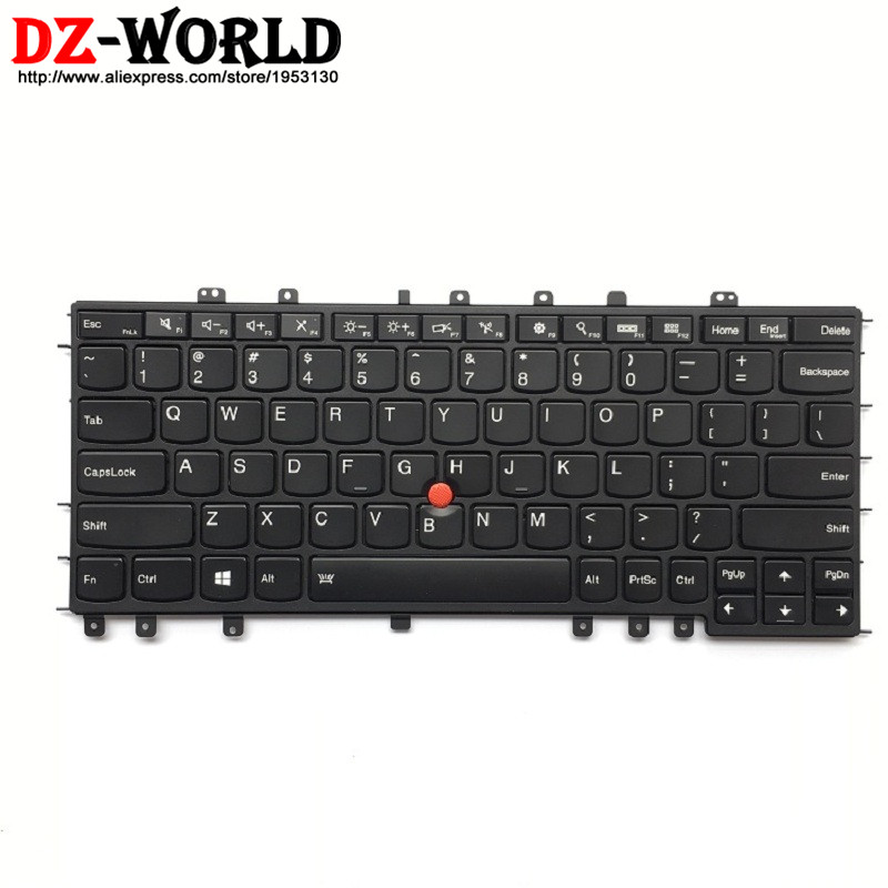 New Original Backlit Keyboard for Lenovo Thinkpad S1 Yoga Yoga 12 US English Backlight Teclado 04Y2620 04Y2916 SN20A45458 new original for lenovo thinkpad yoga 260 bottom base cover lower case black 00ht414 01ax900