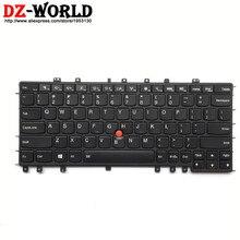 لوحة مفاتيح جديدة أصلية بإضاءة خلفية US باللغة الإنجليزية لهاتف Lenovo Thinkpad S1 Yoga 12 خلفية Teclado 04Y2620 04Y2916 SN20A45458