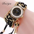 New Duoya Women Bracelet Watch Fashion Luxury Women Woven Braids Dress Watches For Ladies Wristwatch Quartz Vintage Casual Watch