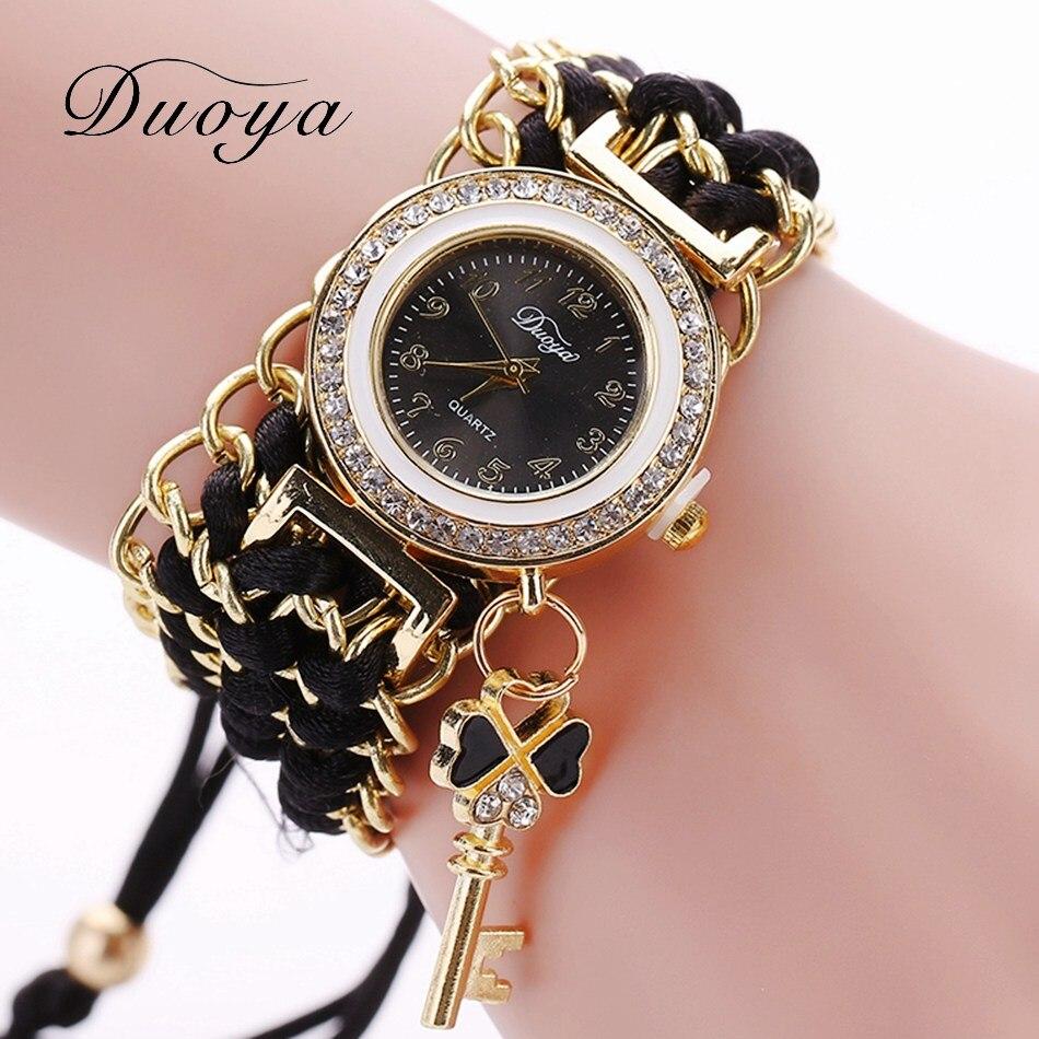 8e45e934bcd Nova Duoya Mulheres Pulseira de Relógio de Moda de Luxo Mulheres Tranças  Tecidas Vestir Relógios Para Senhoras Relógio de Pulso de Quartzo Relógio  Ocasional ...