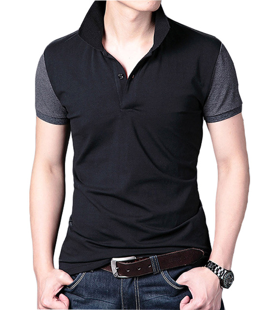 Summer Casual Men's Polo Shirt, Fashion Simple Turn down collar Man's Shirt,  Anti-pilling, 95% Cotton.