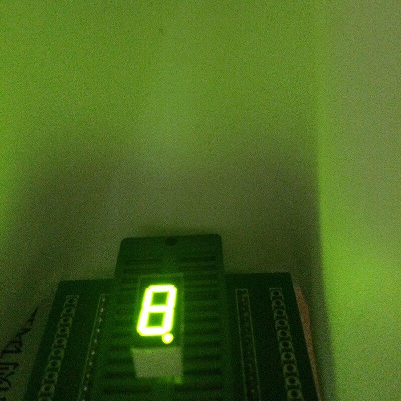 10pcs Green LED Display 0.36inch 1 Bit 7 Segment Display 1 Digit Digits  Common Cathode  Green Light  Seven Segment LED Display