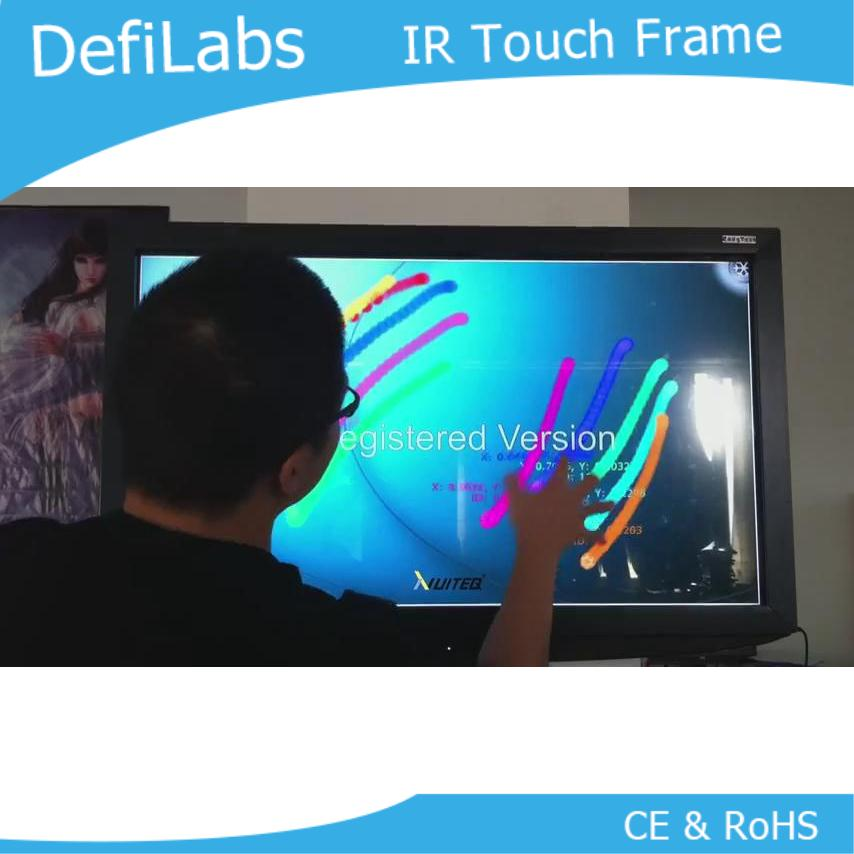 DefiLabs 55 inch IR touch screen frame without glass-10 touch points / Fast Shipping,Dust and water proofing, anti-vandal
