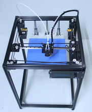 big size DIY aluminum Frame corexy 3d printer Kit with 50g PLA dual extruder 3d printer