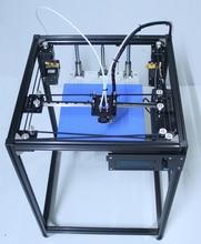 big size DIY aluminum Frame corexy 3d printer Kit with 50g PLA dual extruder 3d printer