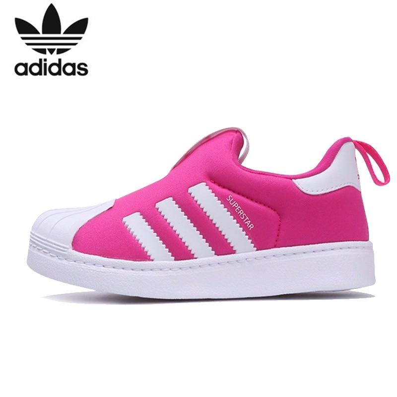 Adidas Superstar Bambini Originali Runningg Scarpe Traspirante Aiuto Basso Di Usura-resistente Scarpe Da Tennis Di Sport # B75622