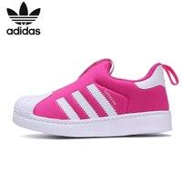 Adidas Superstar Original Kinder Laufschuhe Atmungs Niedrigen Helfen tragen wider Sport Turnschuhe # B75622-in Turnschuhe aus Mutter und Kind bei