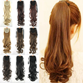 10 Colors Fashion Women's Ponytail Hairpieces Synthetic Hair Extensions Ponytail Curly Ponytail Blonde Wavy Ponytail