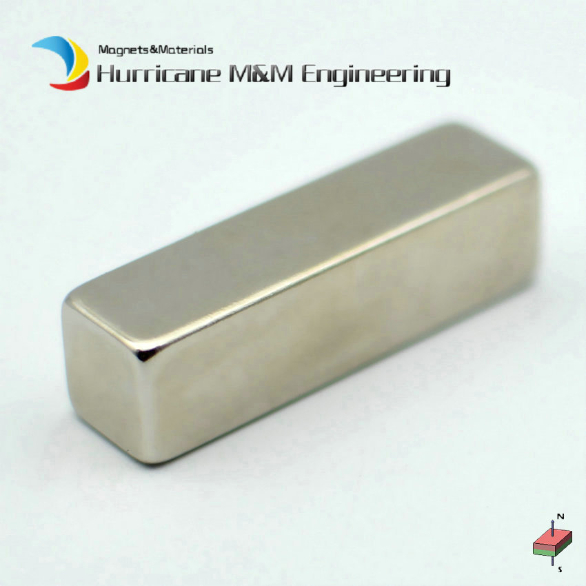 4-100pcs N50 NdFeB Magnetic Block 50x14x14 mm Bar Strong Neodymium Rare Earth Permanent Industrial Magnet 3 x 4 8mm cylindrical ndfeb magnet silver 100pcs
