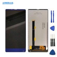"""Tela lcd aicsrad para oukitel, display de reposição para smartphone oukitel mix 2, peças de digitalizador touch screen de 5.99 """"+ ferramentas"""