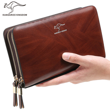 Kangaroo Kingdom Luxury Men Clutch Bags Brand Leather Handbag Male Business Day Clutches