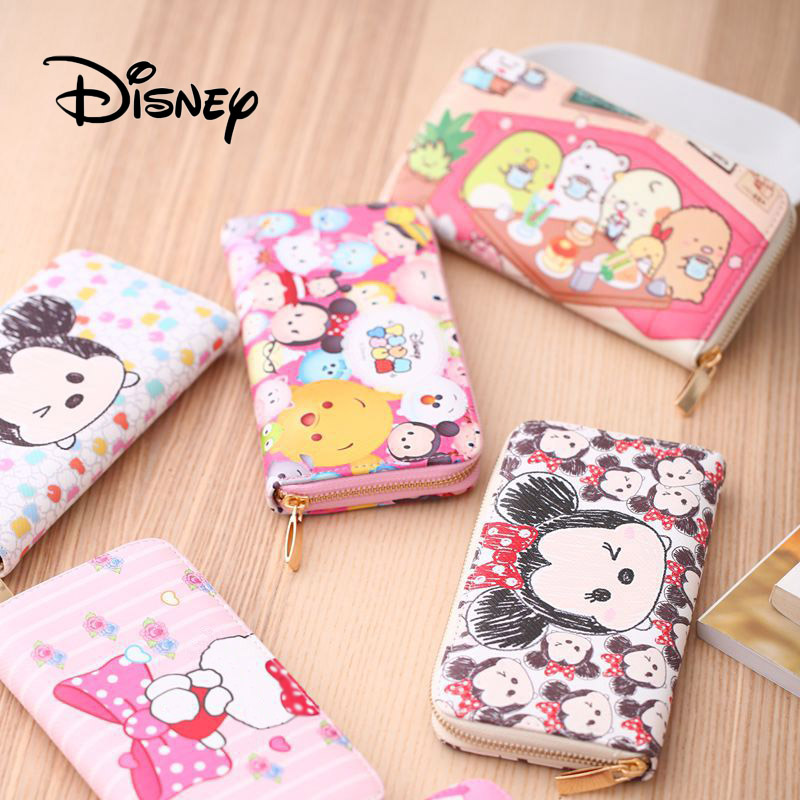 2019 Hot Disney Mickey Mouse Plush Purse Women Long Female Purse Lady Purses Phone Pocket Card Holder Birthday Gift For Girls image