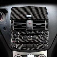 Lsrtw2017 Carbon Fiber Car Interior Panel Trims for Mercedes Benz C Class W204 C200 C300 C180 K260 C60 2007 2014
