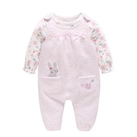 Children's Clothing Baby Girl Snug Clothes New Cotton Long Sleeve Leotard Cute Bodysuit 2 1 SET Baby Girl Jumpsuit