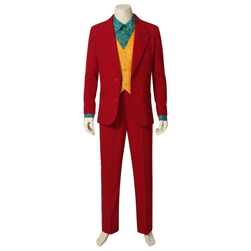 2019 Joker Origin Movie Cosplay Joaquin Phoenix Arthur Fleck Costume Cosplay Uniform Halloween Adult Men Outfit Suit Custom Made