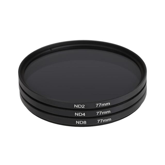 ND Filter ND2 ND4 ND8 Neutral Density Filtors 49MM 52MM 55MM 58MM 62MM 67MM 72MM 77MM Photography for Canon Nikon Sony Camera