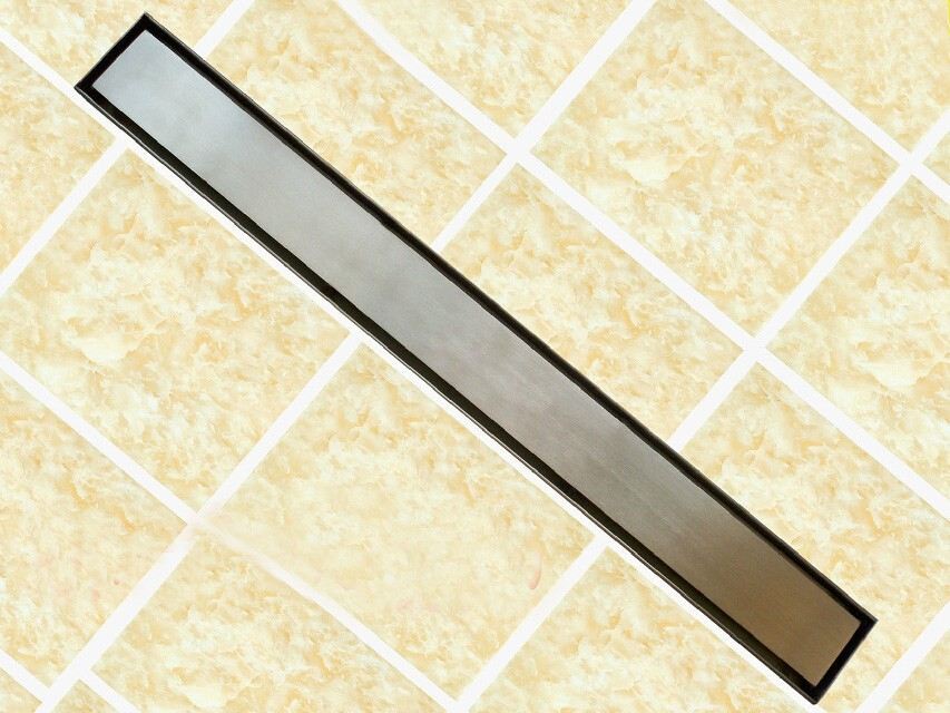 Free shipping 60cm or 80cm Stainless Steel Linear Shower Drain 800mm shower drain channel,shower floor drain,gate drain DR228 free shipping wholesale and retail free shipping art carved floor drain oil rubbed bronze shower ground drain cover