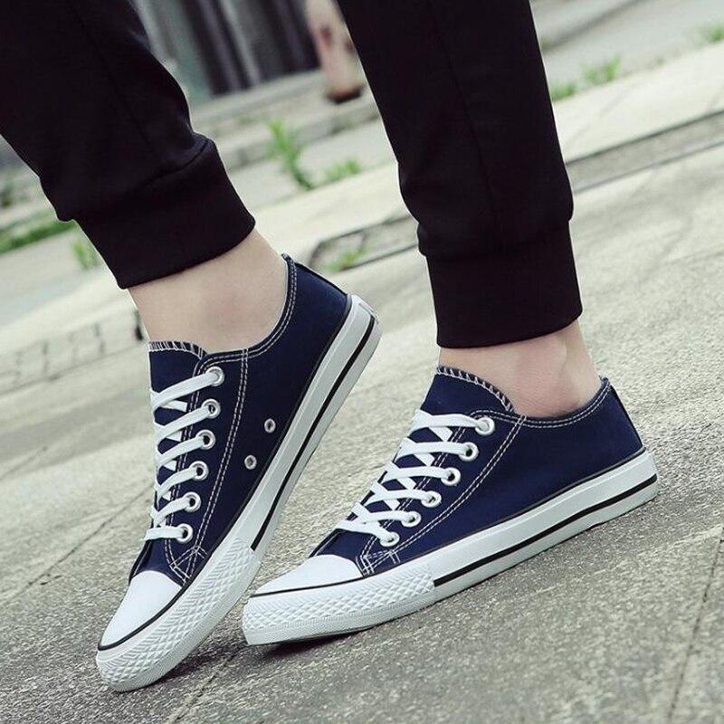 2019 Spring Summer Canvas Shoes Men Sneakers Low top Black Shoes Mens Casual Shoes Male Brand Fashion Classic lightweight Unisex zapatillas de moda 2019 hombre