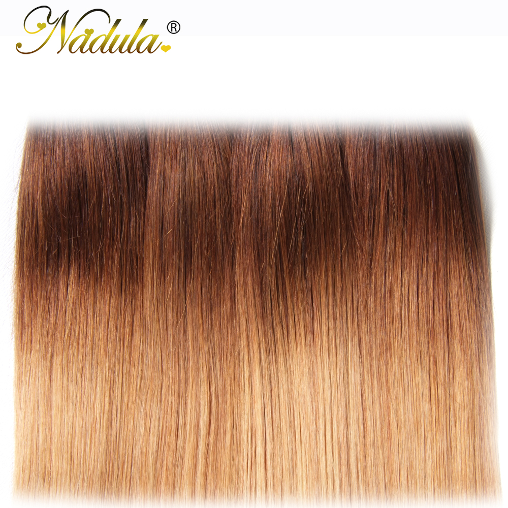 Nadula Ombre Hair Bundles 16-26inch  Straight  s 1B/4/27 Color  Hair  6