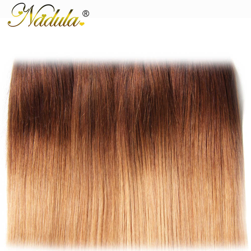 Nadula Ombre Haar Bundels 16-26inch Peruaanse Straight Human Hair Extensions 1B/4/27 Kleur Remy haar Gratis Verzending