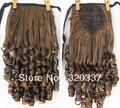 Модные ленты хвост волосы хвост наращивание стильный вьющиеся конский хвост наращивание волос для женщин # 2/30 светло-коричневый