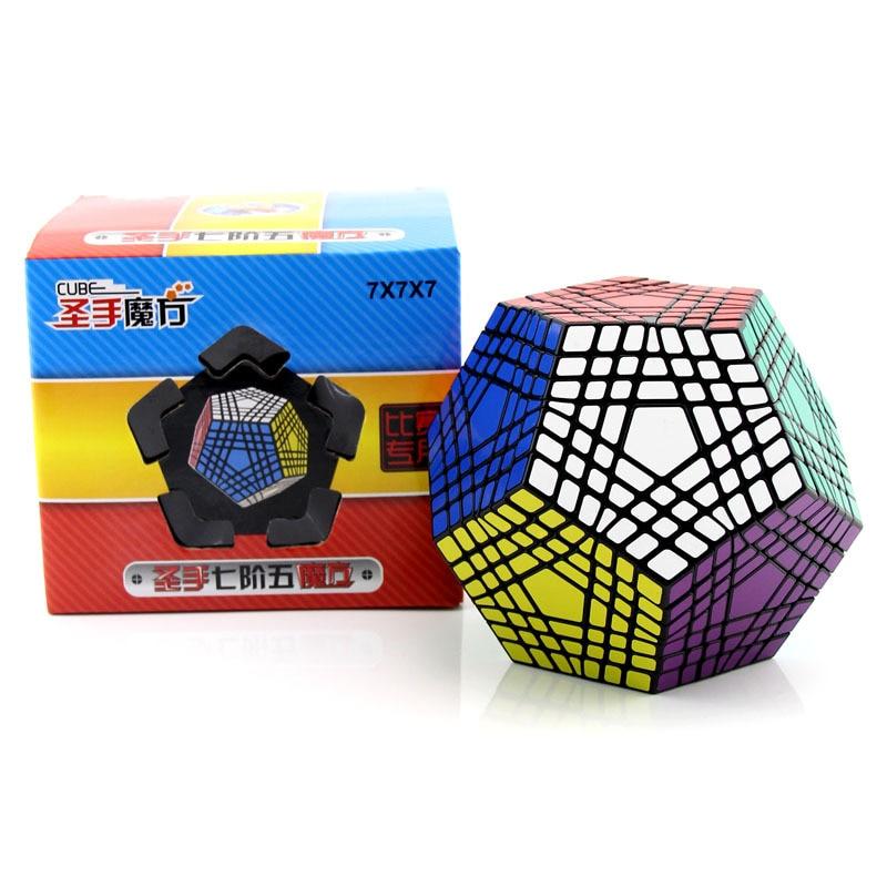 Shengshou 7x7x7 cinq magie carré couleur fond Science éducation précoce développement intellectuel lisse Cubo Magico jouets créatifs