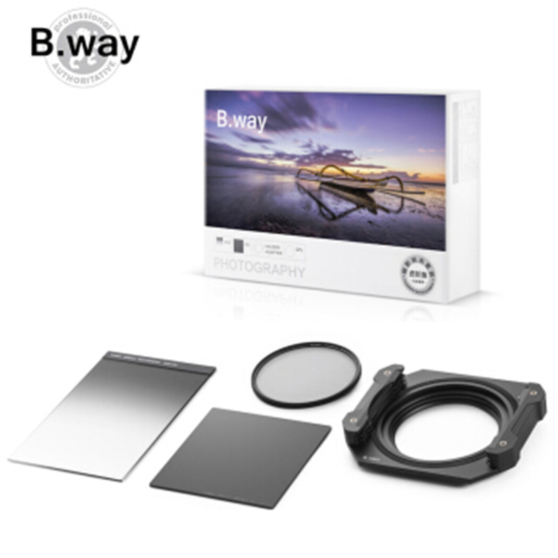 B.way Square Filter Holder System the Advanced Version 100x150mm including GND/ND/Polarizer Filters