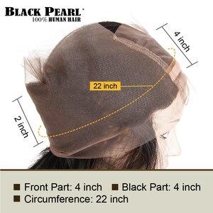 Image 5 - שחור פנינה מראש בצבע 360 חזיתי תחרה עם חבילות 3/4 יח\חבילה ישר שיער טבעי חבילות עם סגר ללא  רמי שיער Weave