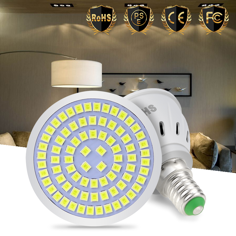 LED MR16 Spot light Bulb E27 Lampada LED Corn Lamp 220V E14 Spotlight GU10 Bombillas LED GU5.3 48 60 80LEDS Lampara B22 5W 7W 9W new e27 gu10 rgb led bulb light bombillas 4w 16 color change mr16 e14 led lamp spotlight lampada with remote controller dimmable