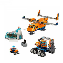 все цены на NEW City Arctic Air Transportation Compatible With LegoINGOD Citys 60196 Building Blocks Sets Model Toys Children Christmas Gift онлайн