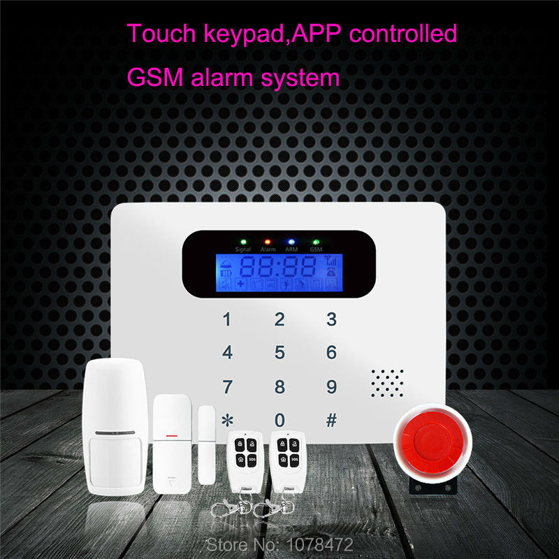 NEW Arrival APP GSM Alarm System,SMS Security Alarm With Voice In English,French,Russian,Italian,Czech,Spanish,Polish For Option