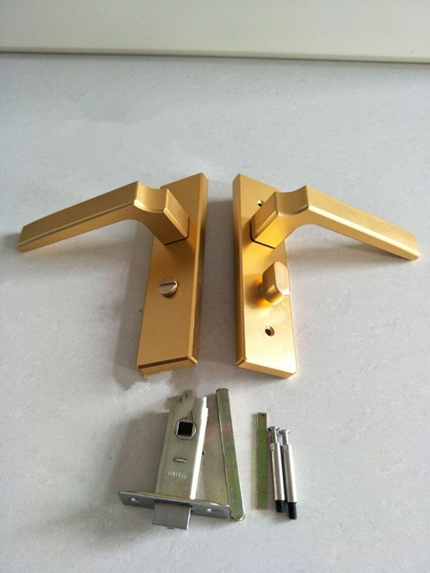 modern fashion gold bathroom door lock kitchen aisle solid