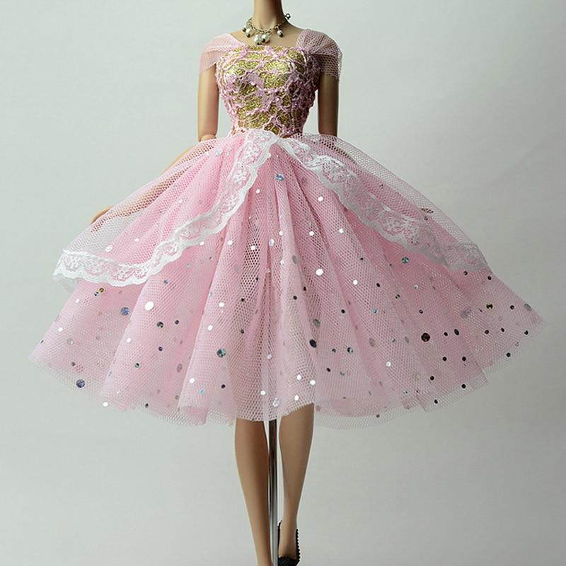 1pc barbie doll clothes princess wedding dress for barbie for How to make a barbie wedding dress