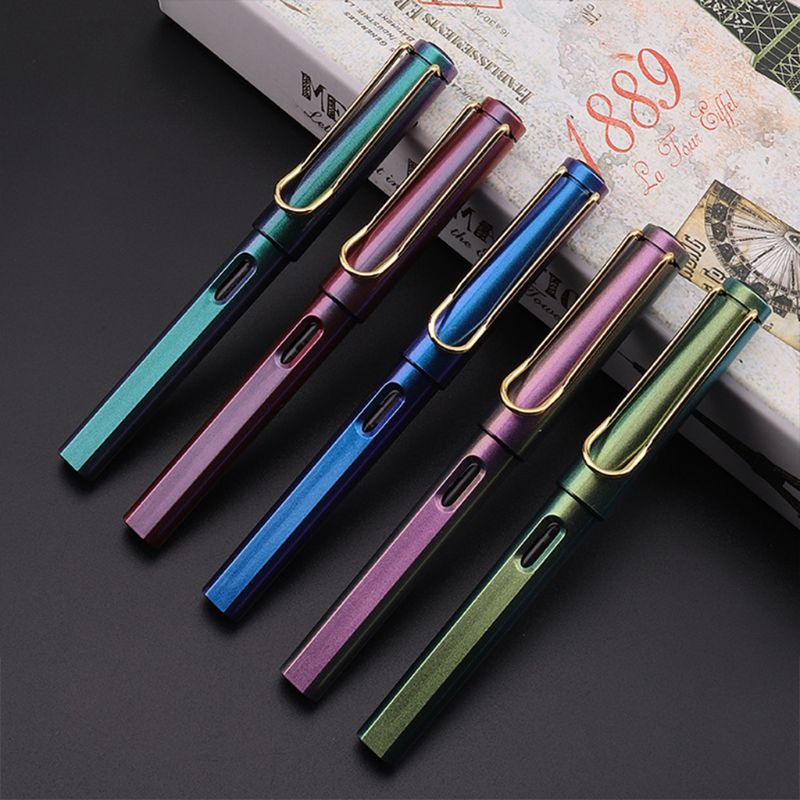 Gradient Fountain Pen Business Student 0.38mm Extra Fine Nib Office Writing Tool