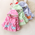 Baby winter outerwear cotton-padded baby outerwear trench thickening  autumn children's clothing Female baby clouds of cotton