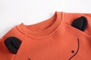 Image 4 - Sudaderas con capucha para niño y niña, ropa con capucha para bebé, camisetas de manga larga con forro polar de Animal, ropa para niño, blusa infantil