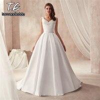 V образный вырез из двух частей матовый сатин знаменитый дизайн свадебное платье с карманом свадебное платье со съемной юбкой свадебные пла