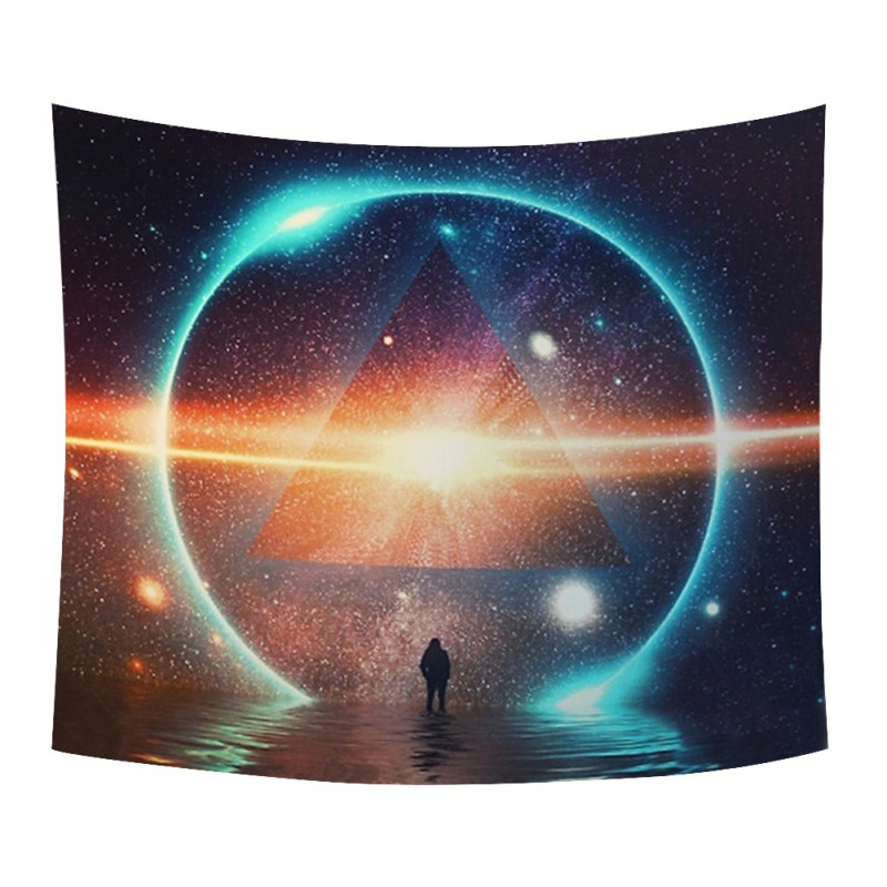 Ultra-Galaxy Mandala Stargate Tapestry / Bedspread / Couch Cover / Picnic/Beach Blanket + AAEONIX Energy Balancing Kit