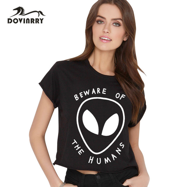 Summer Style T-shirt Women  Alien Letters Top Tees Brand Fashion T-shirt Tops Cat Causal T-shirt Female Plus Size Top Clothing