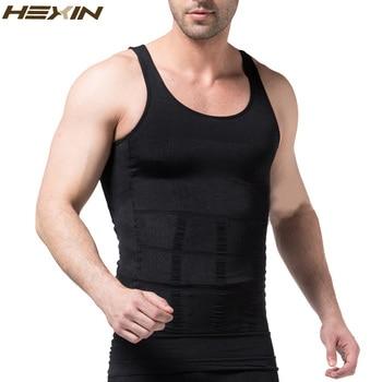 HEXIN Men's Slimming Body Shapewear Corset Vest Shirt Compression Abdomen Tummy Belly Control Slim Waist Cincher Underwear  1
