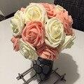 1 Bouquet 10 Heads  Artificial Rose Flower Wedding Bride Bouquet PE Foam  DIY Home Decor Rose Flowers VB364 P20