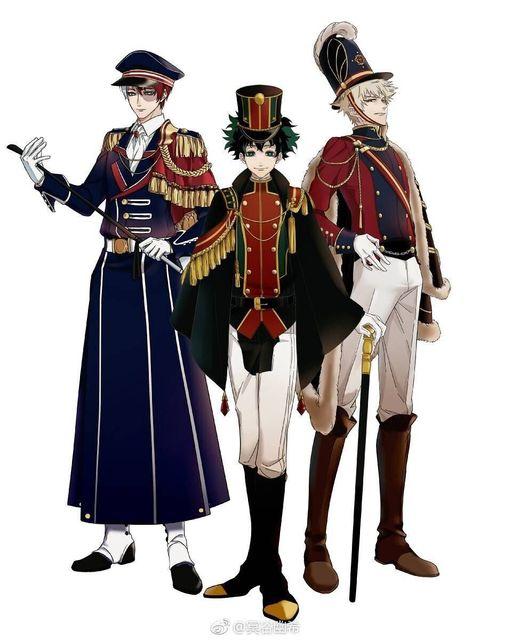Happy New Year Text Izuku Shouto Katsuki Military Uniforms