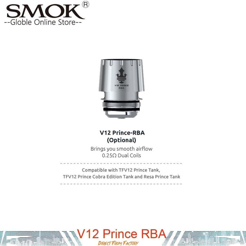 In stock! Authentic SMOK TFV12  V12 Prince RBA Coil head 0.25ohm For TFV12 Prince Tank Atomizer Fit X-Priv Mag I-Priv G-Priv Kit база tfv12